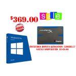 MS Windows 8.1Pro 64Bit OEM (Full Version) INCLUDES 120GB SSD