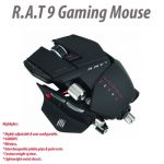 Mad Catz Matt Black Cyborg R.A.T 9 6400DPI Wireless Gaming Mouse