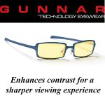 Gunnar Anime Amber Steel Blue Indoor Digital Eyewear