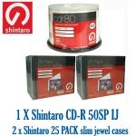 CD-R 50SP INKJET + 50 x SLIM JEWEL CASE PROMO