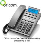 Offers hands-free freedom when making or receiving a call.
