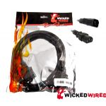 Wicked Wired 1.8m Standard Male IEC To Standard Female IEC Power Extension Cable