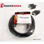 Wicked Wired 10m HD15 15Pin Male VGA To HD15 15Pin Female VGA Video Cable