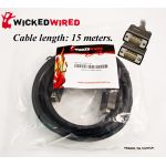 Wicked Wired 15m HD15 15Pin Male To HD15 15Pin Male VGA Video Cable