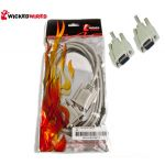 Wicked Wired 2m Female 9Pin D-Sub (DB9) To Female 9Pin D-Sub Null Modem Direct S