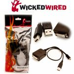 Wicked Wired Mini Active Display Port To DVI Adapter
