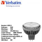 Verbatim LED Lighting 7w Socket GU5.3, 12v