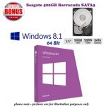 Microsoft Windows 8.1Std 64Bit OEM (Full Version) PLUS SATA3
