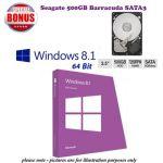Microsoft Windows 8.1Std 64Bit OEM (Full Version) PLUS SATA3