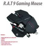Mad Catz Matt Black Cyborg R.A.T 9 6400DPI Wireless Gaming Mouse