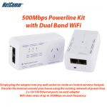 NetComm NP508 500Mbps Powerline Kit with Dual Band WiFi