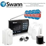The Swann Home Wireless alarm system is an easy to install security protection package. Kit contains Touchpad, Alarm PIR sensors x 2, Window Door Sensors x 2, Intrusion Siren, remotes x 2 & Deterrent Stickers x 8.