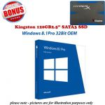 Windows 8.1Pro 32Bit OEM (Full Version) INCLUDES 120GB SSD