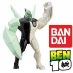 This collectible figure is highly detailed and  features a light-up head, an arm that launches missiles and an arm that is filled with glow in the dark slime