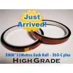 Sublimation Heat Proof Tape 8 mm Rolls