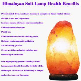 Himalayan Salt Lamp with timber base - Medium