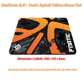 SteelSeries QcK+ Fnatic Asphalt Edition Mouse Pad