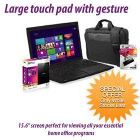 "Toshiba Notebook Bundle Satellite C50/03F 15.6""/Celeron/Win8 +1TB USB External HDD +Carry Bag +8GB Silicon Power USB"